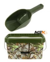 Camo Bucket & Baiting Spoon ZESTAW NGT FISHING